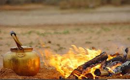 أتفضل  عندنا الشاى على النار