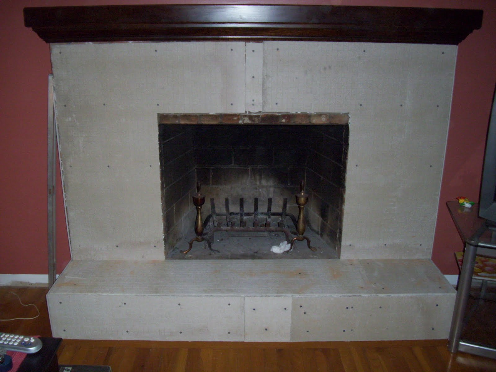 Marble Tile Fireplace Decor4poor: Fireplace Makeover