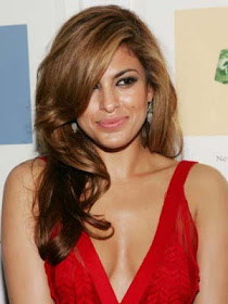 short hair styles 2011: cameron diaz the mask stripe dress