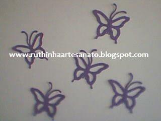 Borboletas feitas no Eva. Fica lindo decorar quarto de bebê menininha
