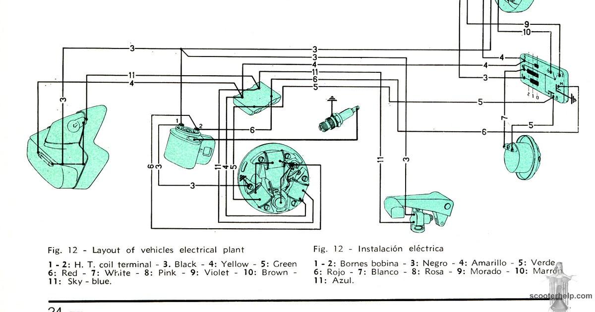 1967 Vespa Ss180  Vsc   Wiring  Without Battery
