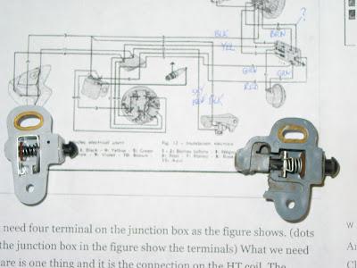 1967 Vespa SS180 (VSC): Rear ke switch & pedal install on