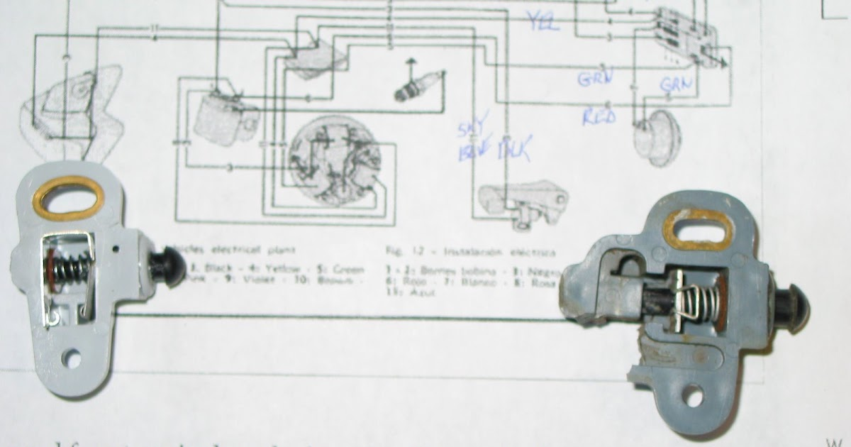Vespa Light Switch Wiring Diagram : Vespa ss vsc rear brake switch pedal install