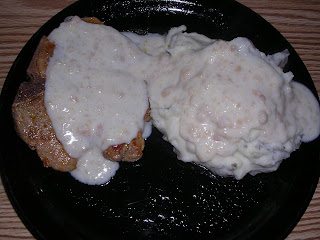Pork Chops with Milk Gravy (My grandma's recipe)