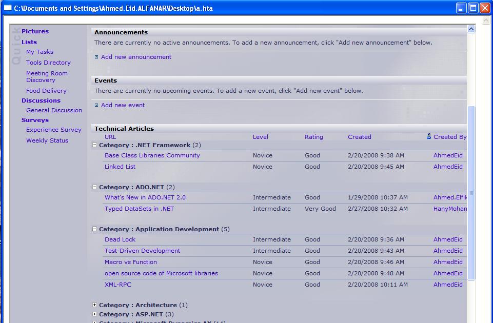 Ahmad Eid Salem: HTML Application (HTA)