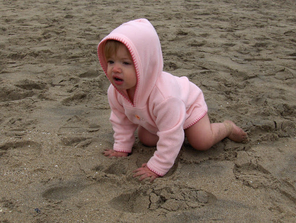 Norah at the beach
