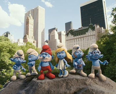 The Smurfs in Central Park
