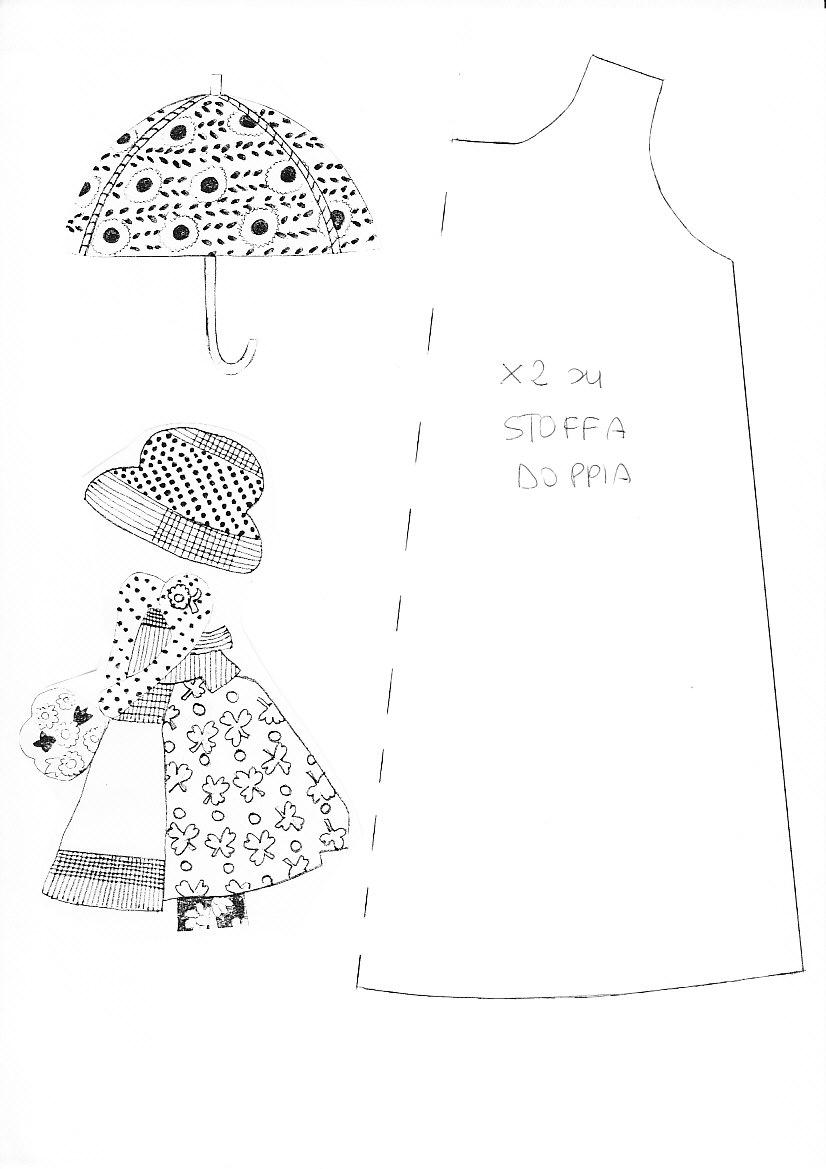 cartamodello vestitino bambola