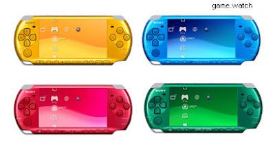 PSP ganha 4 novas cores no Japão