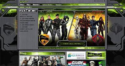 Site oficial do G.I. Joe. É os Comandos em Ação na internet!