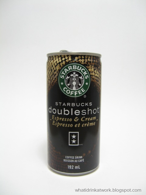 What I Drink At Work Starbucks Doubleshot Espresso And