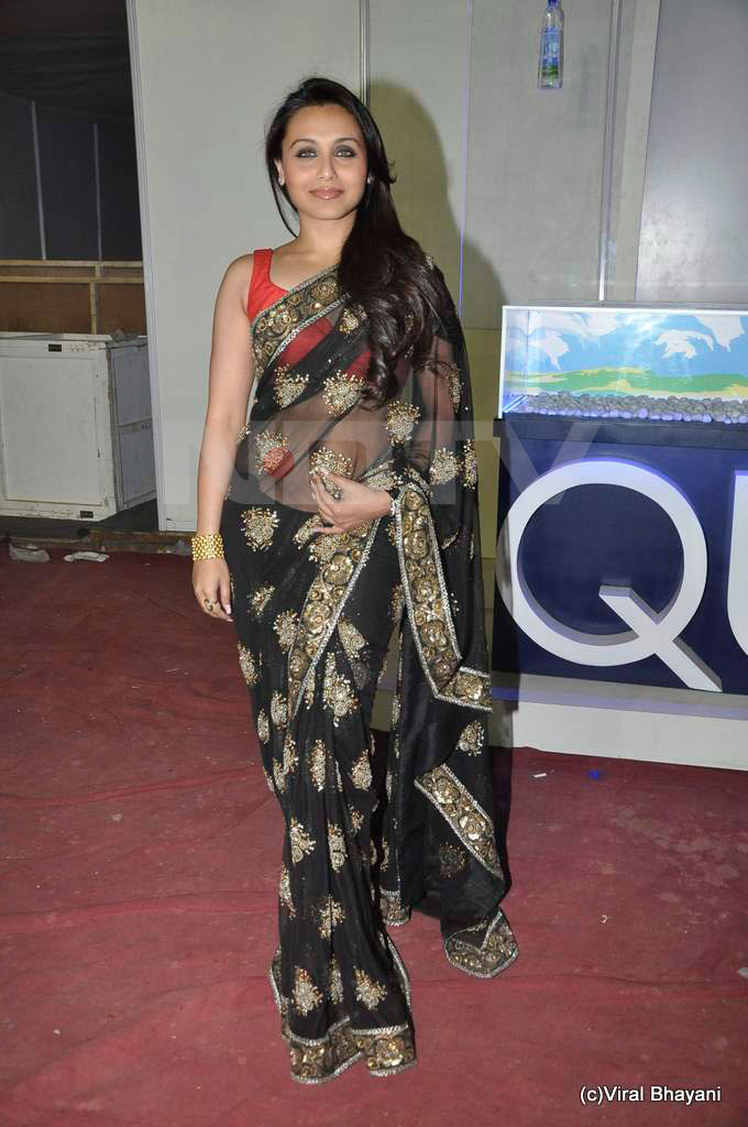 Hotest Celebs Rani Mukherjee Black Sabyasachi Saree With