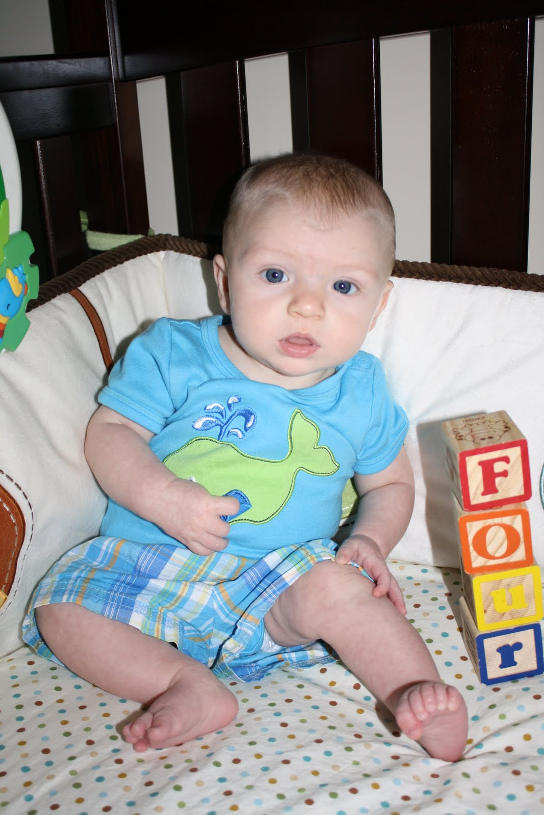 A day in the life of a Robison....: 4 Months old