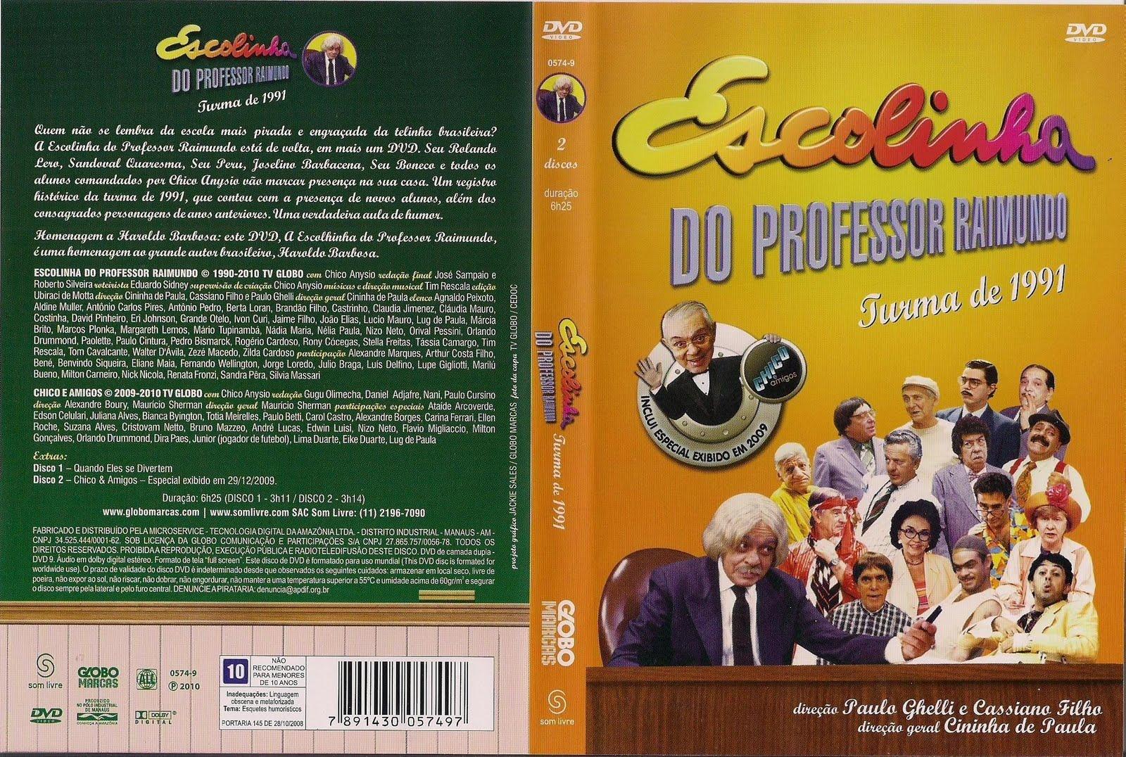 dvd da escolinha do professor raimundo turma de 1991