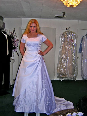 Sleepless in seattle trying on wedding dresses for Modest wedding dresses seattle