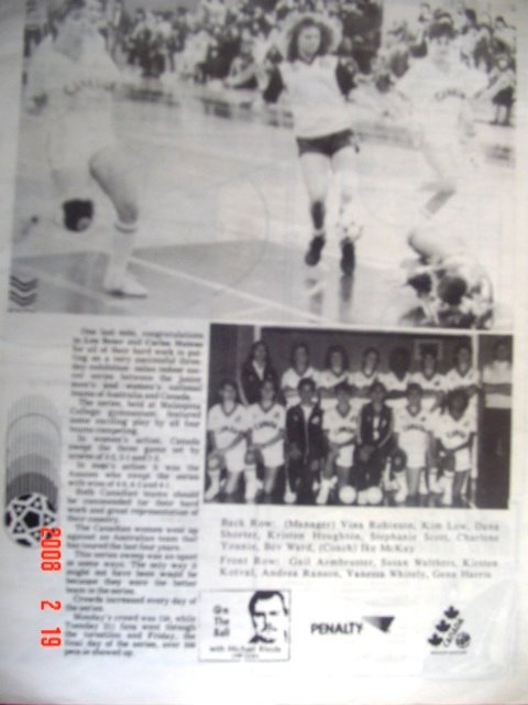 Futsal  Canada History in Nanaimo , British Columbia : 1986  Canada and Australia First Game