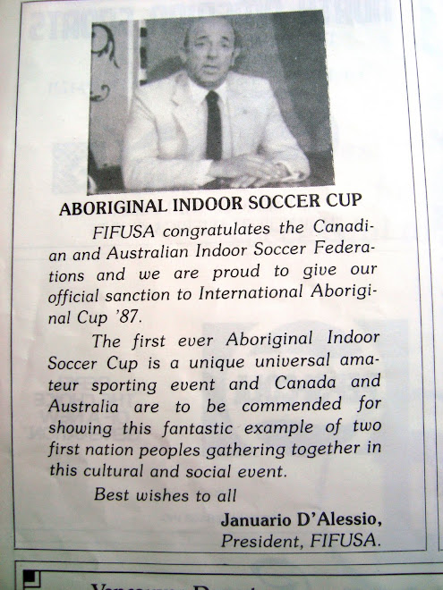 First Futsal Aboriginal Cup  In Canada  .1987