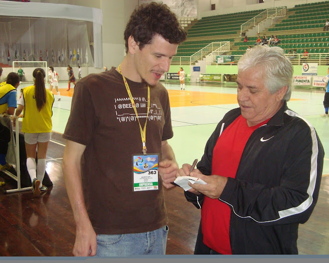 Futsal Canada founder Carlos Mateus interview Mauricio Has in Brusque Futsal Media