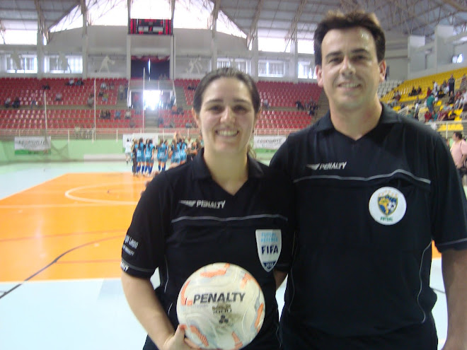FIFA Referees at Futsal Catarinense  Games FASC. 2010 in Brusqe.