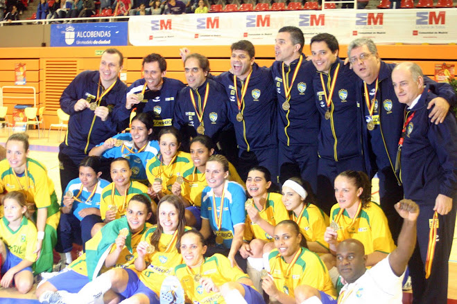 Brazil Women Futsal National Team brought  gold back from Spain