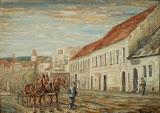 Gazda pred hostincom u Meszároša