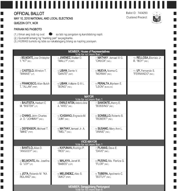 comelec sample ballot candidates | just b.CAUSE