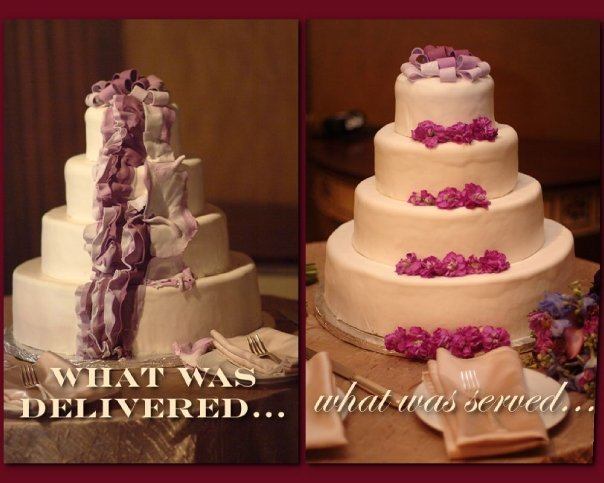 wedding cake disaster photos the blissful so what do you do a wedding planner s 22525