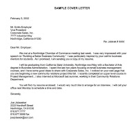 Sometimes Cover Letters Do Help - An exception to the rule ...