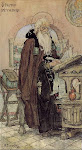 St Nestor the Chronicler, by Nesterov