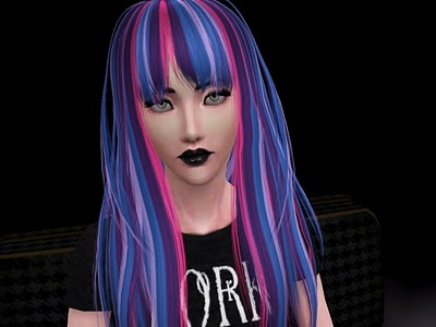 My Sims 3 Blog: Cazy's Sakuya hair neon'd! by Kittehbomb