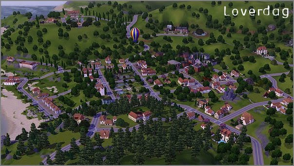 My Sims 3 Blog: Sunset Valley as Old Town by Loverdag