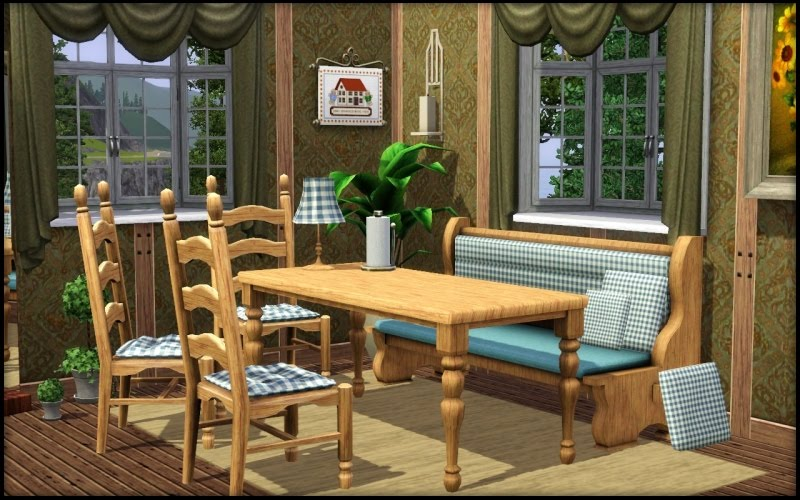 My Sims 3 Blog Austrian Dining Bench Bonus Cushions