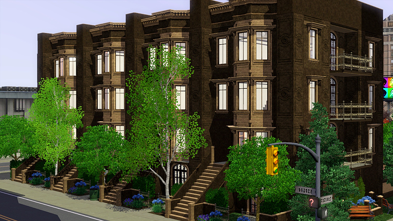 Historic Brownstone Apartments Lot For The Sims 3