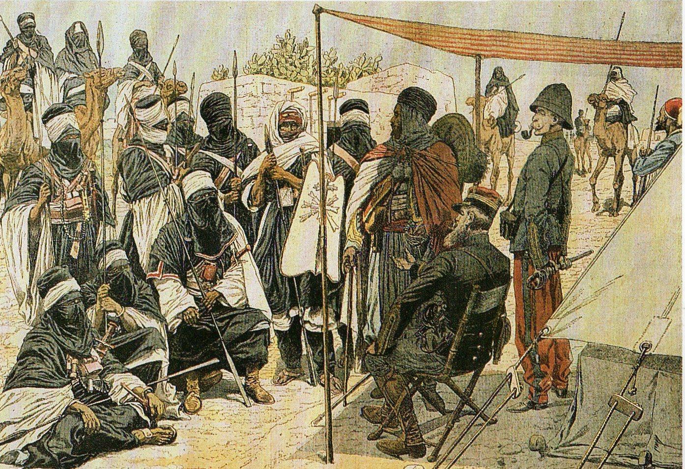 [Après+la+défaite+de+Tit+en+1902,+Musa+agg-Amastan+présente+sa+soumission+aux+militaires+français+dans+l'oasis+d'In-Salah.jpg]