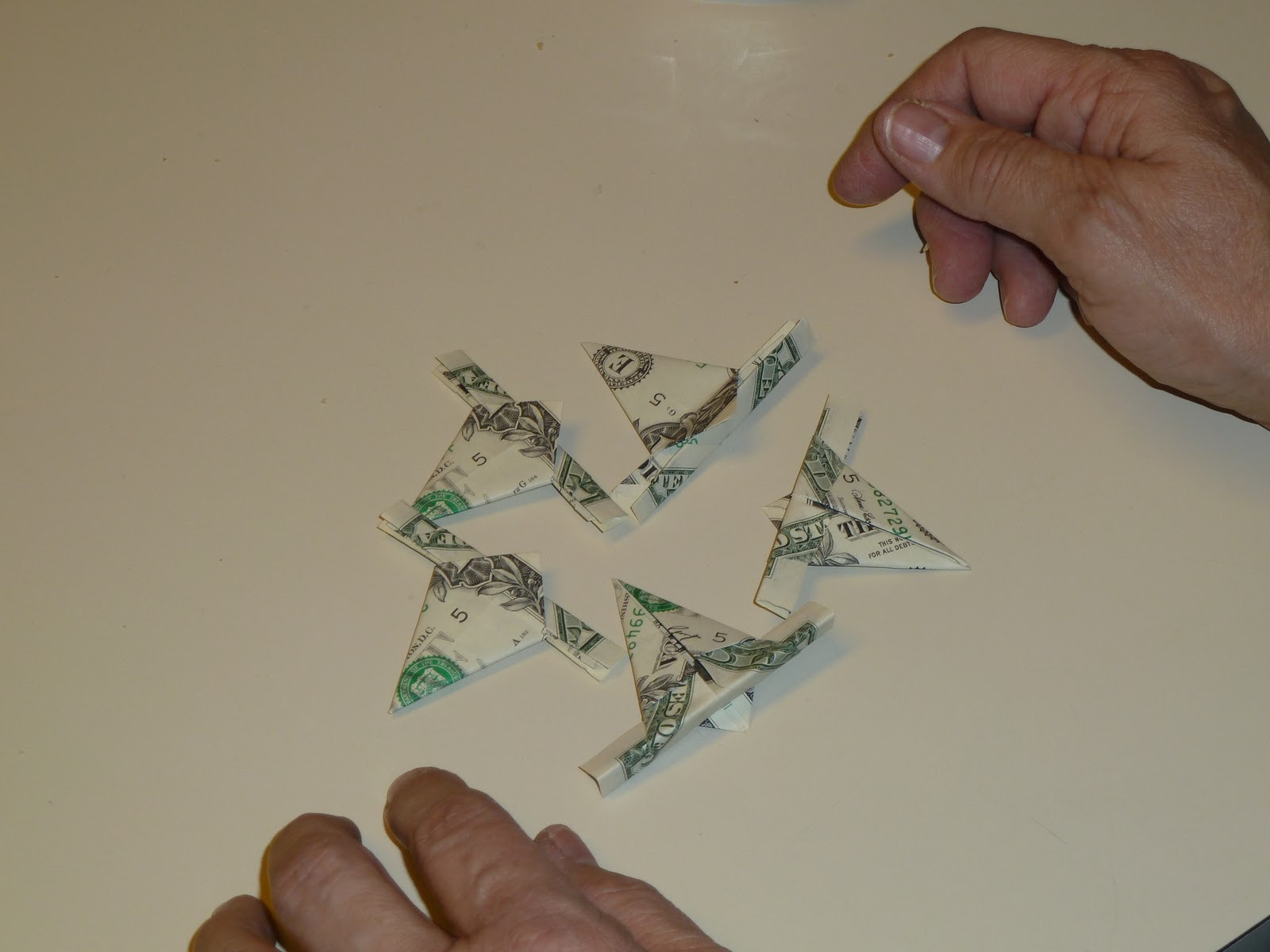 "Make it easy crafts: ""Easy money"" folded five pointed ... - photo#44"