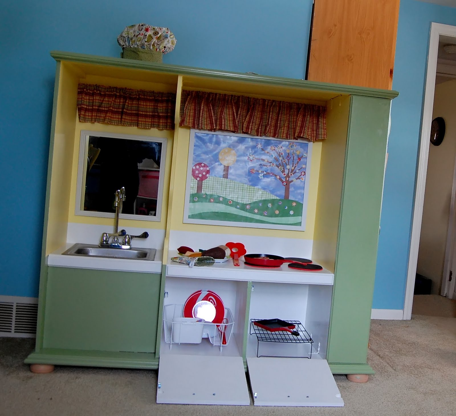 The Busy Bug Life Bug S Repurposed Play Kitchen