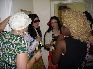 A bunch of girls, including Ruth in her blonde afro.