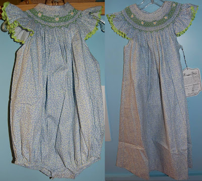 Site Blogspot  Smock Dresses on Or Dress Both In A Blue Floral Print With Geometric Smocking And Angel