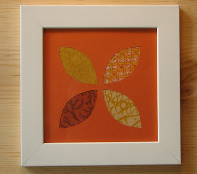 Vintage fabric wall art   How About Orange
