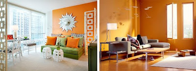 A Collection Of Orange Themed Rooms For Your Decorating Inspiration Over At Desire To Inspire Kim Observes That Gray White Taupe And Chartreuse Are
