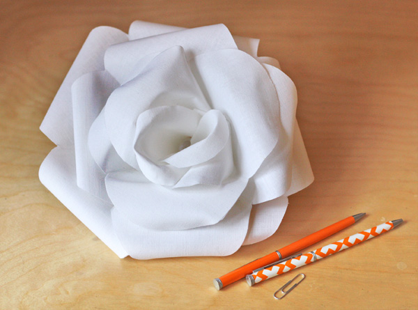how to make a fabric rose how about orange. Black Bedroom Furniture Sets. Home Design Ideas