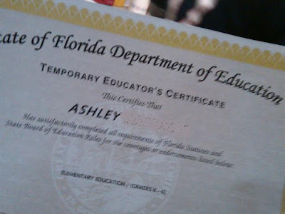 Ashley And Zach Fldoe Certificate