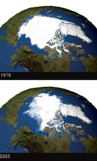 Le réchauffement dans l'Arctique