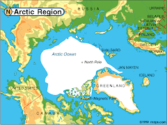 CARTE DE LA REGION ARCTIQUE