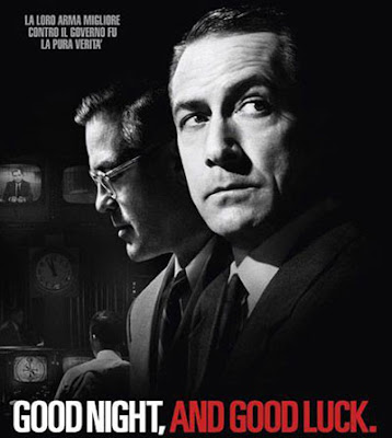 review goodnight and good luck Shot by robert elswit, good night, and good luck's crisp, silvery monochromatic  cinematography creates a palpable sense of '50s-era time.