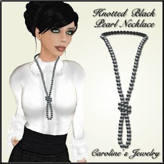 Knotted Black Pearl Necklace Jewelry