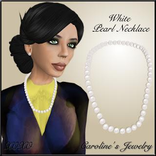 White Pearl Necklace - XOXO Poison Ivy