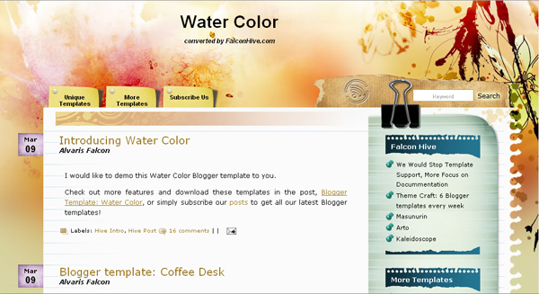 Art blogger template free download art blogger template for How to create blogspot template