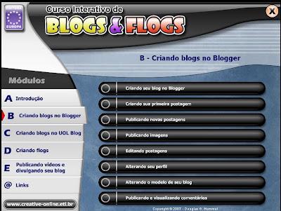 Curso Interativo de Blogs e Flogs  Curso Interativo de Blogs e Flogs Baixar grátis Completo