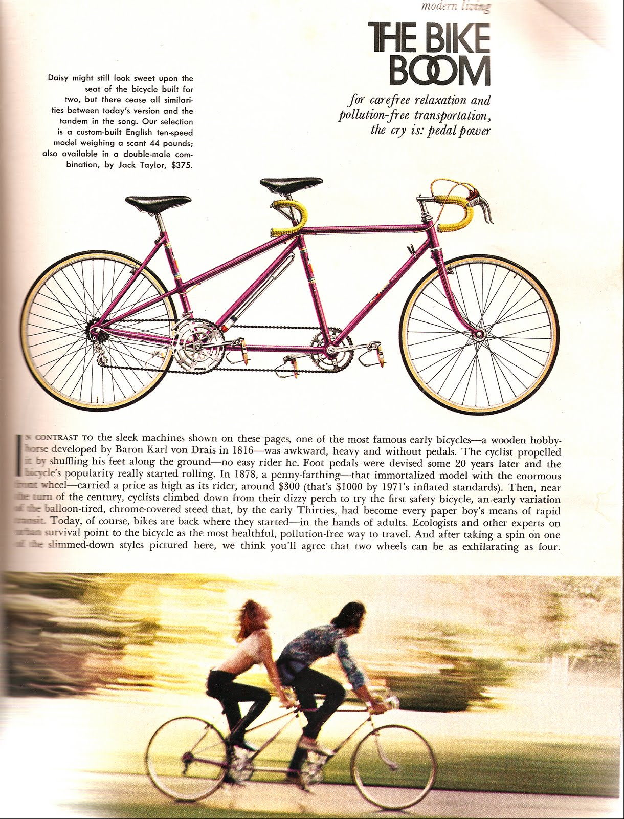 Very Playboy Magazine August 1971 Bicycle Pics - Bike Forums FF47